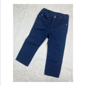 H&M Boys Blue Khakis Stretch Waist Size 1-2